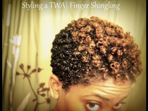 shingled hair style styling a twa updated finger shingling routine 8290