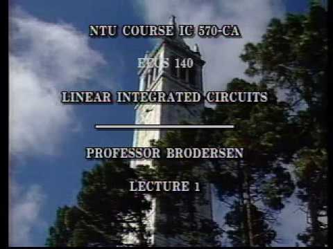 Analog Integrated Circuits (UC Berkeley) Lecture 1