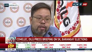 WATCH: Officials give updates on barangay and SK elections | 11 April 2018