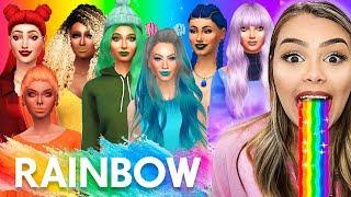 Garotas ARCO-ÍRIS! (Rainbow Challenge) The Sims 4