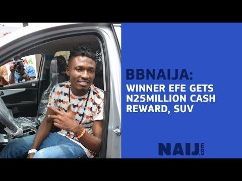 BBNaija winner Efe receives N25million cash, SUV rewards