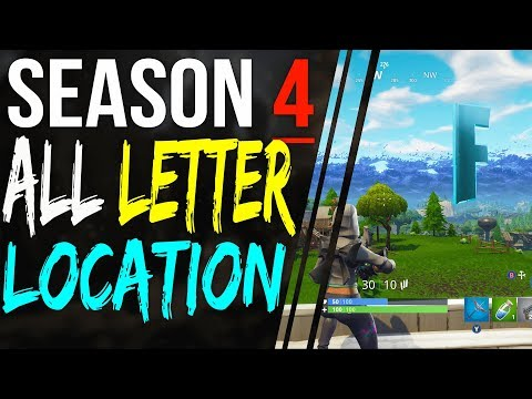 Search FORTNITE LETTERS LOCATIONS - F O R T N I T E ALL Letters Challenge Week 1