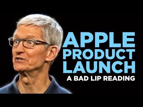 'APPLE PRODUCT LAUNCH' — A Bad Lip Reading