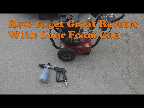 How to get great foam from your foam cannon set up