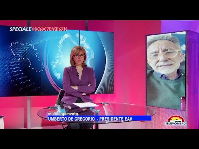 SPECIALE CORONAVIRUS  INTERVISTA AL PRESIDENTE DI EAV UMBERTO DE GREGORIO