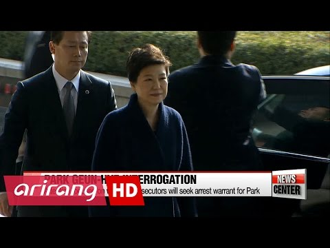 Former President Park Geun-hye undergoes questioning by prosecutors