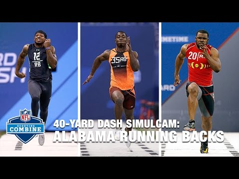 Alabama RB 40-Yard Dash Simulcam: Derrick Henry vs. Mark Ingram vs. T.J. Yeldon | 2016 NFL Combine