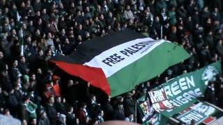 Celtic fans show solidarity with Palestine!