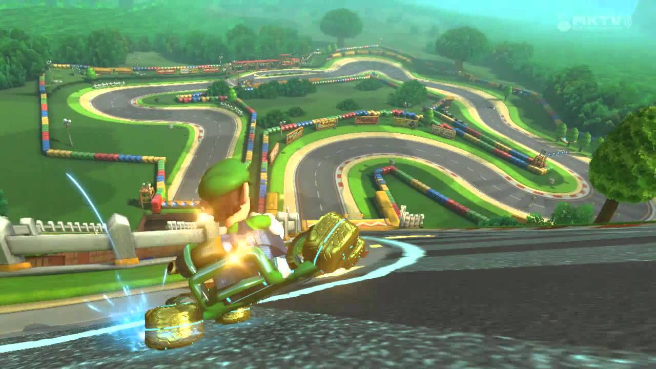 wii u mario kart 8 gba mario circuit youtube. Black Bedroom Furniture Sets. Home Design Ideas