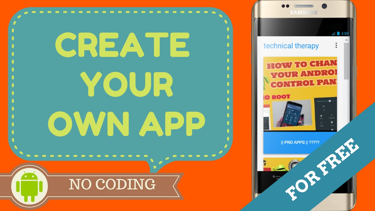 Design Your Own App For Free