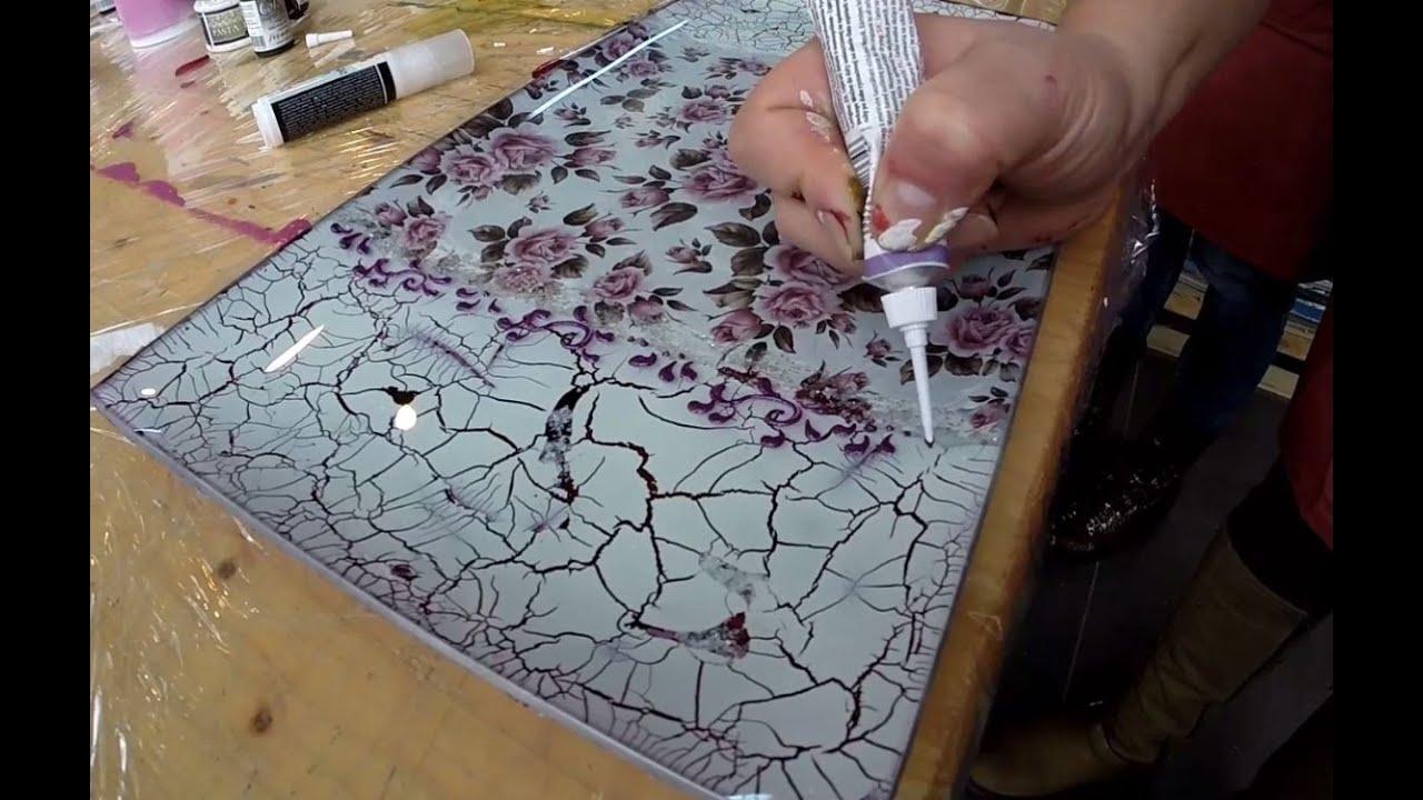 Decoupage on glass cracking paste tehnica decupajului pe decoupage on glass cracking paste tehnica decupajului pe sticla si pasta de crapare youtube reviewsmspy