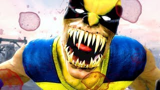 Wolverine Performs All Character Intros & Victory Celebrations (MKIX) Costume Mod PC 4k UHD 2160p