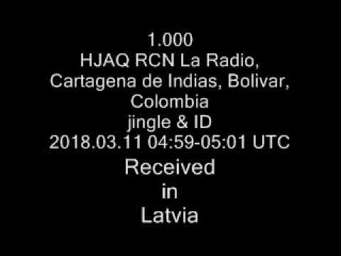 1.000 HJAQ RCN La Radio, Cartagena de Indias, Bolivar, Colombia jingle & ID