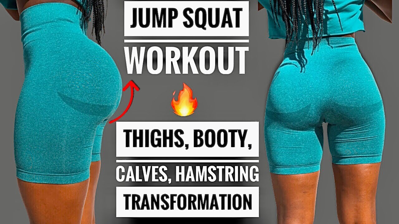 10 MIN HOT🔥JUMP SQUAT WORKOUT~DO THIS TO GROW YOUR GLUTES, LEGS, HIPS & HAMS (Results In 2 Weeks)