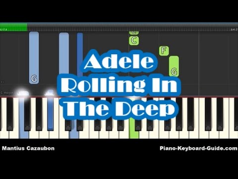 Adele Rolling In The Deep Piano Tutorial How To Play Easy