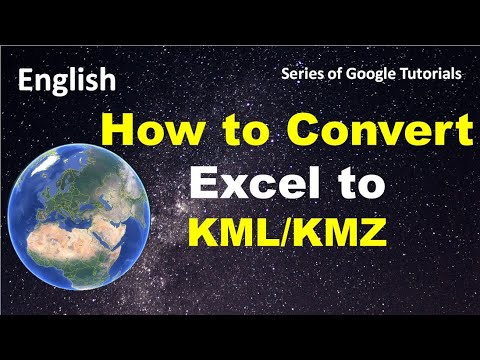 How to convert Excel to KML File