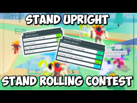 First Person Stand Roll A Daemon Stand In Stand Upright Wins!   Roblox Stand Upright  