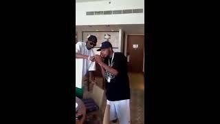 Snoop Dogg smoking midwakh in Abu Dhabi