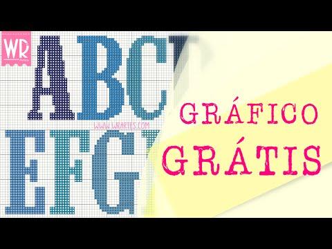 Alfabeto MASCULINO - Gráfico para ponto cruz