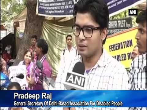 Para-athletes protest suspension of Paralympic Committee of India