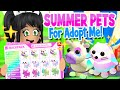 CUTEST *SUMMER PETS* 🏖️ for ADOPT ME UPDATE! (roblox) Fun Concepts!