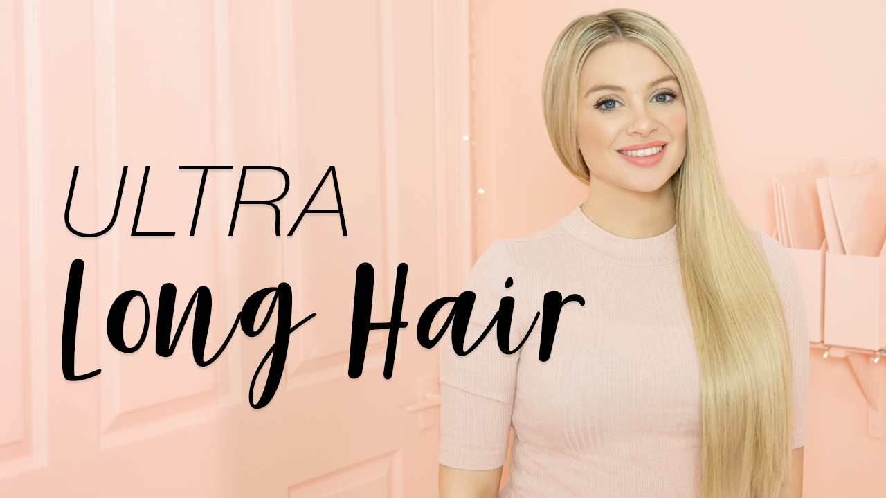 Ultra Long Hair Milk Blush Hair Extensions Youtube