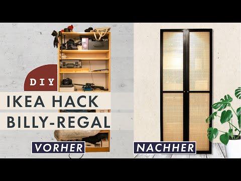 IKEA HACK Billy Regal | Edles Upcycling mit Wiener Geflecht | Vorher-Nachher