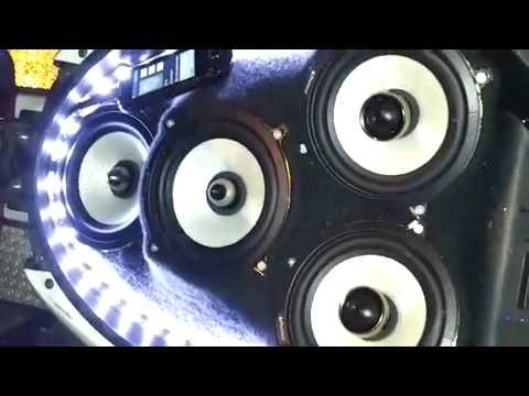 impianto stereo nrg piaggio 50cc - youtube