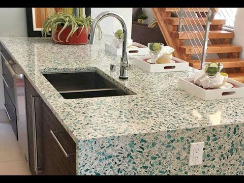 recycled glass countertops ideas youtube. Black Bedroom Furniture Sets. Home Design Ideas