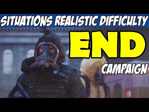 Rainbow Six Siege Situations Ending Realistic Difficulty All Objectives Walkthrough Part 3