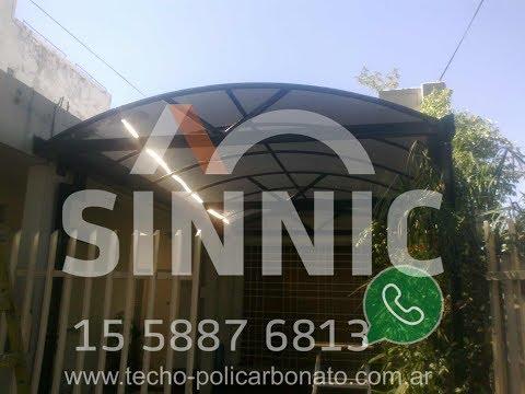 Techo de policarbonato curvo instalado irigoyen 2100 - Techos de plastico ...