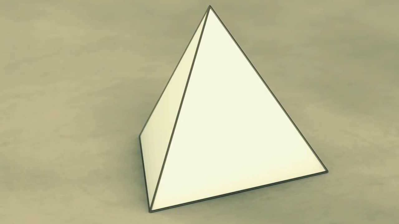 Net Of Solid Shapes Tetrahedron Youtube
