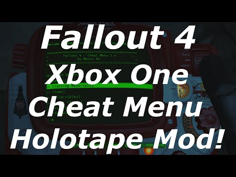 Fallout 4 Xbox One Mods - Cheat Menu Holotape / Console Commands Mod! (Fallout 4 Console Mods)