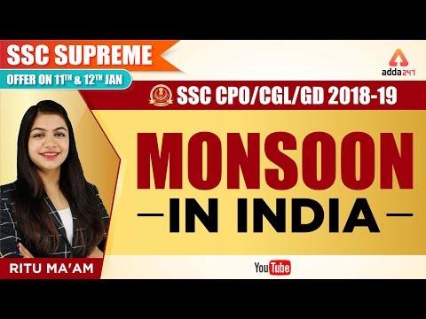 SSC CPO / CGL 2018 - 19 | Monsoon In India | SSC CGL