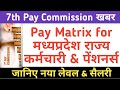 7th Pay Commission Pay Matrix for Madhya Pradesh Government Employees & Pensioners #MP Pay Rules2017