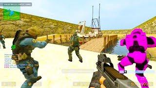 Counter Strike Source - Zombie Escape Nemesis Mod Online Gameplay On Rocket Escape Map