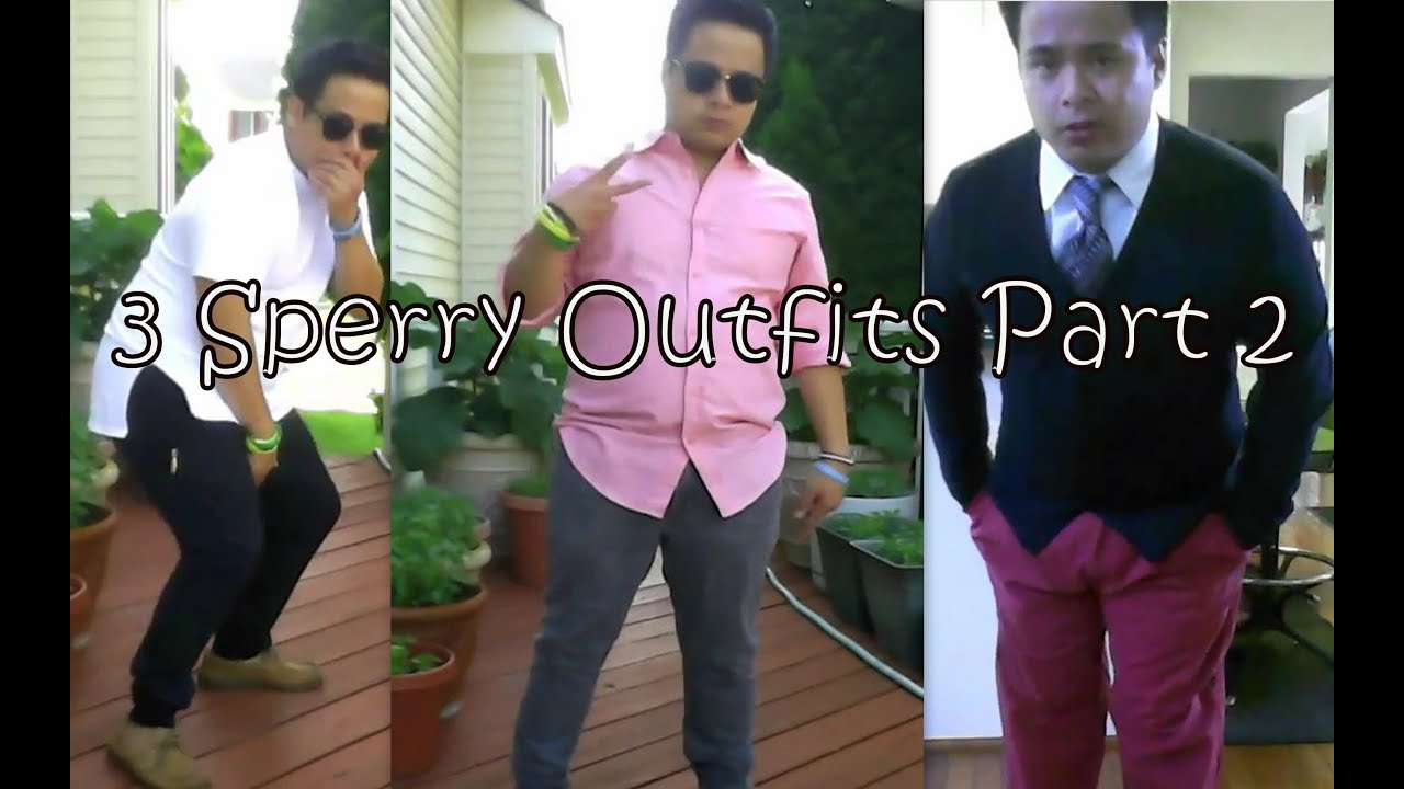 3 outfits to rock with sperrys part 2 casual semi formal formal