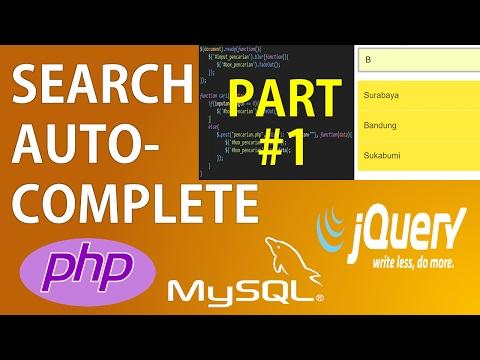 Pencarian Autocomplete Autosuggest dengan PHP 7 dan jQuery Ajax (Part 1/2)