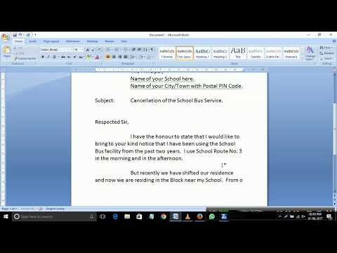 An application to the Principal for cancellation of School Bus Service