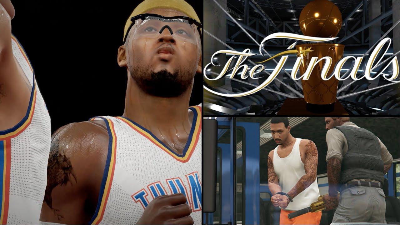 NBA 2K15 MyCAREER S3 NBA Finals G1 - DeShawn ARRESTED & SUSPENDED!! LeBron & Kyrie INJURED ...