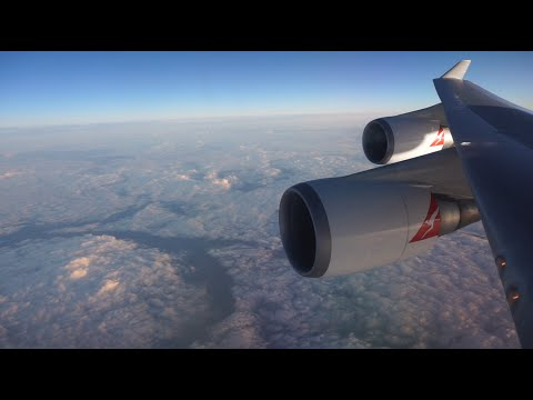 Qantas 747-400 BUSINESS Class: New York - Los Angeles - Sydney (QF18)