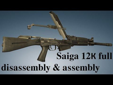Saiga 12К 030: full disassembly & assembly