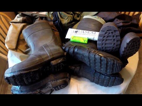 Wader Repair w. AQUASEAL How to Fix LEAKY Pinholes Tears Seams & Boots
