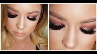 glam warm bronzey smokey eye makeup tutorial