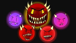 Top 5 demons en Geometry Dash que eran considerados Imposibles!!!!