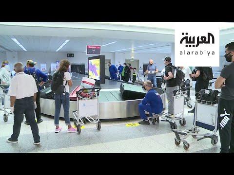 مشاهد لمناوشات بين صحافيين والأمن بمطار لبناني  - نشر قبل 42 دقيقة