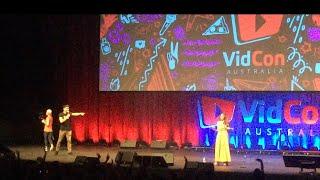 Alex Wassabi vlogging at Vidcon Australia 2018!