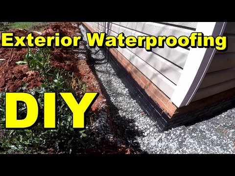 Exterior Waterproofing, Complete How To for Do It Yourself Homeowners, by Apple Drains