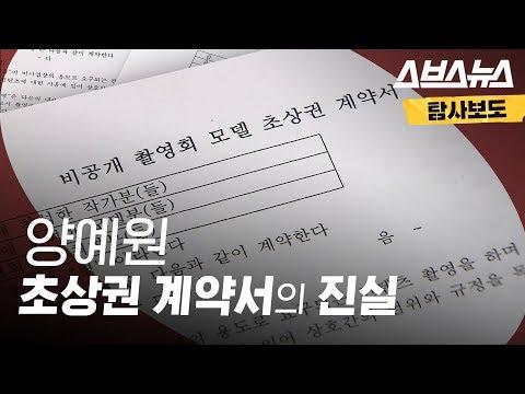 양예원 씨 초상권 계약서의 진실