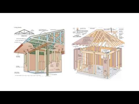 🔨Step By Step DIY Shed Plans-How To Build A Shed By Yourself In A Weekend-DIY Woodworking Projects
